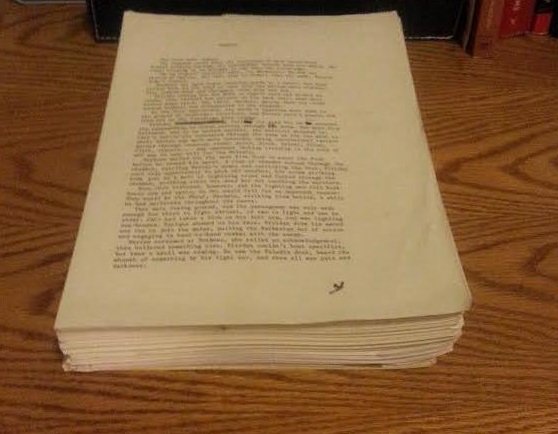 Edit 2016: I found the original typewritten manuscript in a box yesterday.