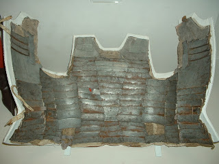 Actual Italian brigandine, 14th-Century. This is the inside.